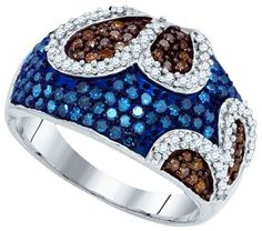 1 CTW-Diamond BLUE MICRO-PAVE RING