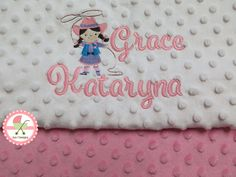 Custom designed personalized baby blankets from www.sun7designs.com