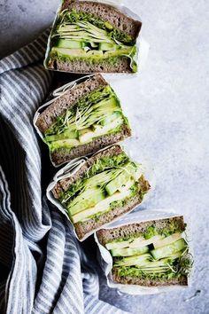Avocado Green Goddess Sandwiches with Havarti #vegetarian #green #healthy
