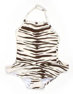 Zebra halter swimsuit - Mini Rodini how i wish i found this for my goddaughter!!!