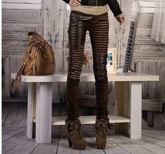 Women' PU Leather Patchwork Jeans Pants  http://ift.tt/2uFkQZg #wheelddeal #dealoftheday #latest #trending #buynow
