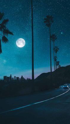 Abstract Night City Traffic Lights Bokeh Effect 1080x2160