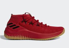 63939f6b7d9d adidas Dame 4 Red Gum Release Date - Sneaker Bar Detroit