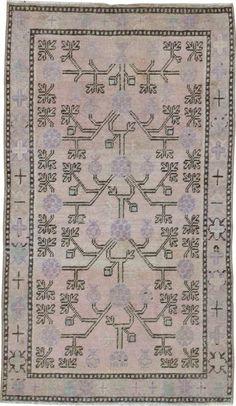 Antique Khotan Rug 2ft. 5in. x 4ft. 2in. - Galerie Shabab