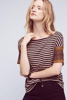 Margot Striped Tee #anthropologie