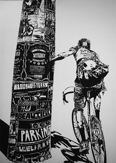 Marco Zamora mural at My Beautiful Parking in Barcelona. You can find more photos over at Fecal Face.