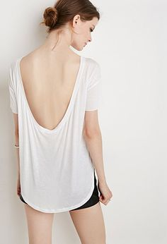 Low-back White Tee | Forever 21