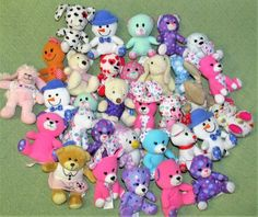 Mcdonalds Build A Bear Mini Plush Lot of 32 Assorted Happy Meal Animals Mixed  #BuildABearWorkshop