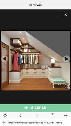 21 creative wardrobe ideas you can copy in your home : classic Dressing room by Rash_studio Attic Wardrobe, Attic Closet, Wardrobe Ideas, Closet Ideas, Small Wardrobe, Wardrobe Storage, Wardrobe Design, Attic Renovation, Attic Remodel