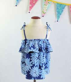 Girls boutique sun top in designer fabric size  2t, 3t, 4t 5 and 6 by TheMulberriBush on Etsy