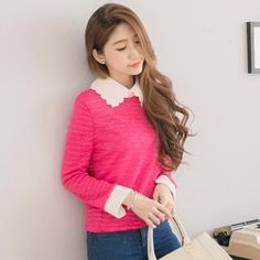Buy 'Tokyo Fashion – Scalloped-Collar Blouse ' with Free International Shipping at YesStyle.com. Browse and shop for thousands of Asian fashion items from Taiwan and more!