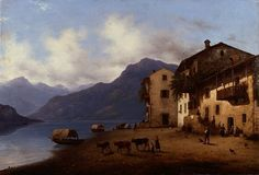 Una veduta del lago di Como dal sapore romantico e manzoniano