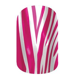 Pink Zebra  nail wraps by Jamberry Nails