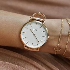 Cluse La Bohème Rose Gold White/Rose Gold Metallic. Available at www.modespot.be