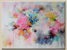 """Large Abstract painting-original abstract painting - acrylic on canvas - modern art - large original painting 36"""" x 48"""
