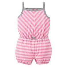 Carter's Stripe Romper - Baby Girl