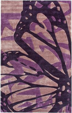 Butterfly Purple Rug from the Studio Collection at www.modernrugs.com