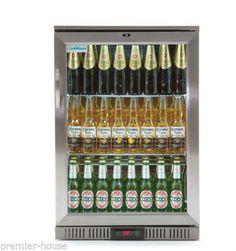 Chillmax-Bar-Beer-Wine-Fridge-1-door-Glass-FULL-SS-128L-Under-Counter-RRP-1299