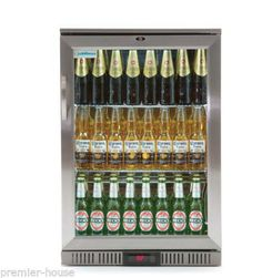 Chillmax-Bar-Beer-Wine-Fridge-1-door-Glass-FULL-SS-128L-Under-Counter-RRP-1299