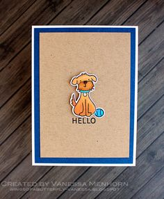 Lawn Fawn - Critters in the 'Burbs + coordinating dies, Hello Baby _ super sweet CAS card by Vanessa via  Flickr - Photo Sharing!