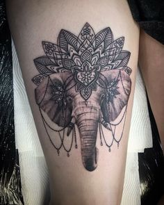 Elephant tattoo mandala