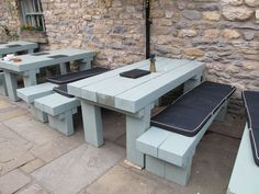 Sleeper wood benches