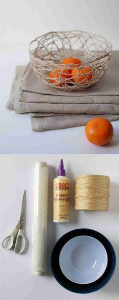 Cesta para fruta con hilo de embalaje - Muy Ingenioso