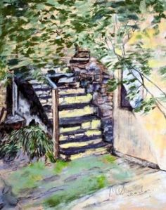 Photos to paint from - Tenby Courtyard