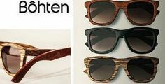 Check out these uptown Bohten sunglasses - made from reclaimed material. At Bohten, manufacturing the glasses couldn't cause harm to the environment, but the product still had to be upscale and trendy.   The brand has developed in collaboration with Carleton University. (http://styleanxiety.com/2013/02/01/bohten-sunglasses/)