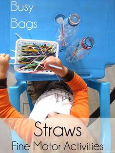 dropping straws