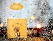 I am obsessed with post it notes.this is adorable! Rainy Post It Kissing In The Rain, Dancing In The Rain, Rain Dance, Umbrella Photography, Art Photography, Couple Photography, Art Blue, I Love Rain, Popular Photography