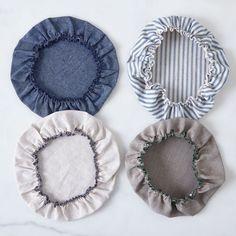 Linen & Cotton Bowl Covers (Set of 6)