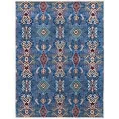 "7'11"" x 9'11"" Brooke Collection All Wool Transitional Style Handknotted Carpet"