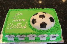 A Chocolate Lovers' Party – Desserts For Parties Soccer Birthday Cakes, Soccer Cake, Birthday Desserts, Birthday Cake Decorating, Party Desserts, Real Madrid Cake, Neon Cakes, Buttercream Cake Designs, Candy Party
