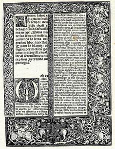 Joanot Martorell.València, 1410 o 1414-València?, 1465.  Primera edició de Tirant lo Blanc (València, 1490)
