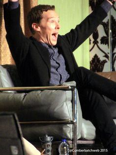 Cutie. {Benedict Cumberbatch at Sherlocked at the weekend.}