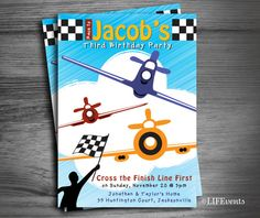 Fighter Plane Birthday Invitation Digital File by LIFEvents, $11.00
