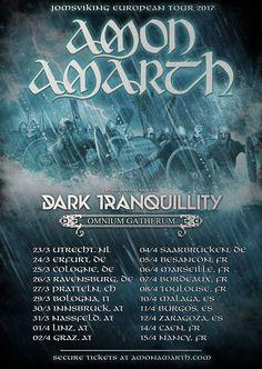 Live report concert Amarth , Dark tranquillity et Omnium Gatherum ! | Ladyblack Moon