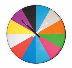 Color Pie Clock $39.99