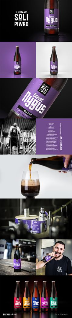 Branding and labels design for Sweet Nygus beer brewed by Browar Solipiwko.