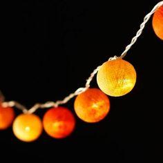 Ambient Balls - 20 Lamps Metro Orange 20 on string. Led Fairy Lights, Balls, Bedroom Decor, Glow, Decorations, Drop Earrings, Orange, Dekoration, Drop Earring