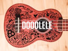 This is what happens when a cheap ukulele meets a black Sharpie.