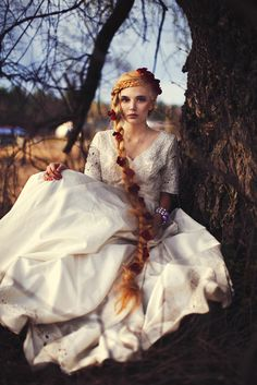 looks like a more Victorian style Rapunzel to me:) Fantasy Photography, Fashion Photography, Magical Photography, Wedding Photography, Rapunzel Braid, Sarah Ann, Her Hair, Fairy Tales, Braids
