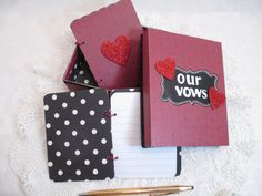 Wedding Vow Book Set  Valentine Wedding Red by TheMemoryKeeperShop