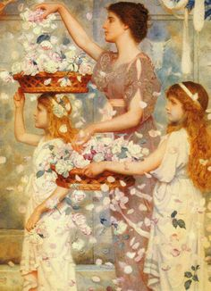 ⊰ Posing with Posies ⊱ paintings of women and flowers - George Lawrence Bulleid | The Empress Comes