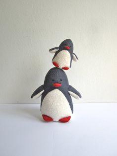 Pinguini  mamma e bambino organico bambino bambino eco di pingvini