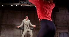 """Elvis Presley and Ann-Margret shimmying in """"Viva Las Vegas"""", GIF"""