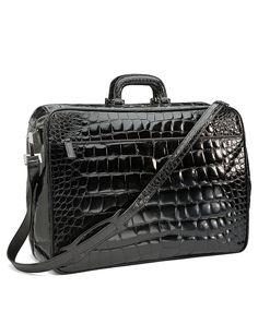 Glazed Alligator Travel Bag Black