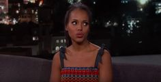 Kerry Washington told Jimmy Kimmel about her mom's love of Game of Thrones and her ability to sit through sex scenes. Kerry Washington, Celebrity Women, Entertaining, Mom, Celebrities, Celebs, Mothers, Funny, Celebrity