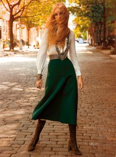 Caroline Trentini by Inez & Vinoodh for Vogue US November 2014 [Editorial]
